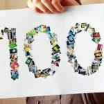100 記事数