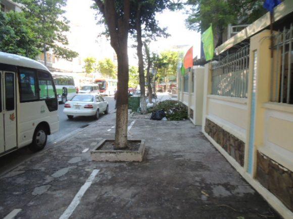 ベトナム ダナン 歩道